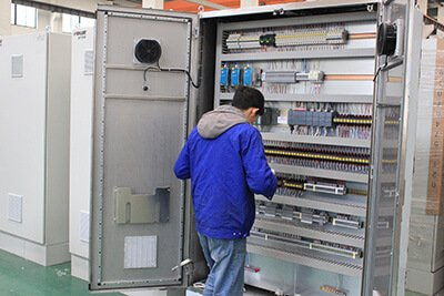 9. Electrical control cabinet assembling commissioning inspecting