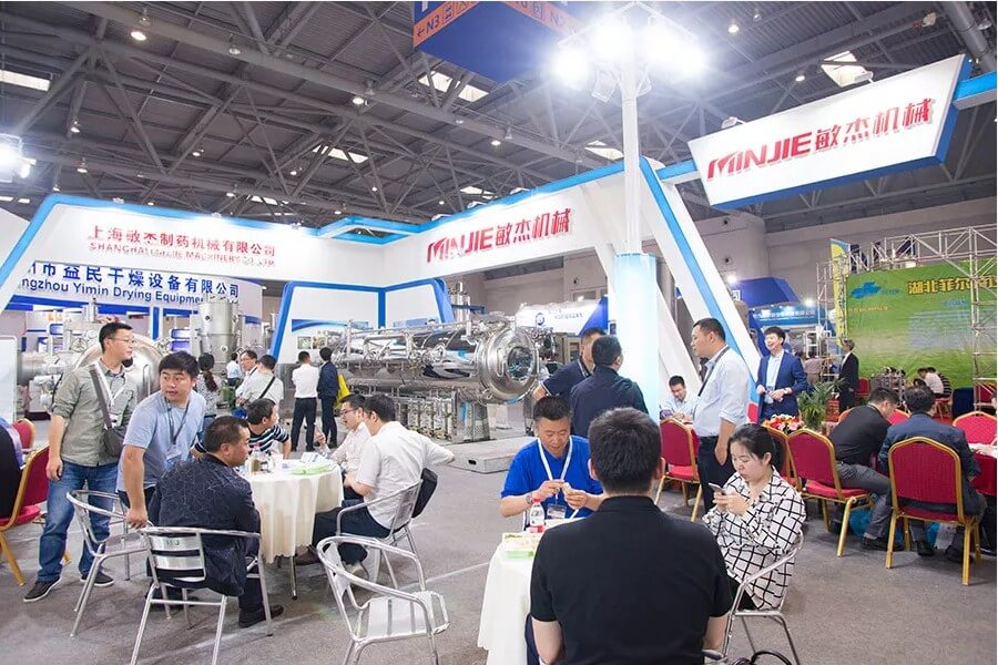 Minjie Attended CIPM in Wuhan with Vacuum Belt Dryer 02