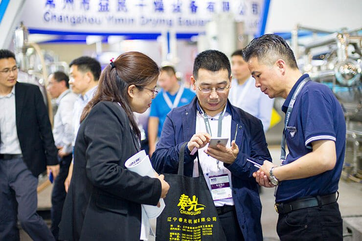 Minjie Attended CIPM in Wuhan with Vacuum Belt Dryer 04