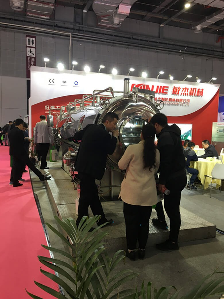 Shanghai Minjie Machinery Attended FIC2019 with Vacuum Belt Dryer 03