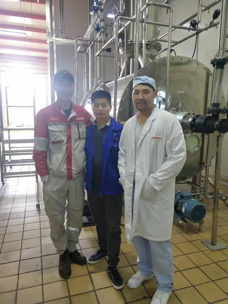 TESO Group Vacuum Belt Dryer and Vacuum Low temperature evaporator Project in Mongolia 3